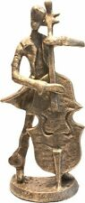 Bronzo Figurina Statua DOUBLE bass Bassist stringa Player MUSICALE REGALO