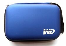 "WD black 2.5"" Zipper Carry HDD Bag For all Portable Drive Hard Disk - Blue"