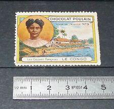 VIGNETTE CHOCOLAT POULAIN 1932 COLONIES FRANCE AFRIQUE CONGO PLAGE LIBREVILLE