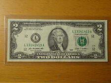 Lucky 2009 $2 Two Dollar Federal Note Fancy Radar serial 13141413