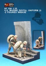 Hobby Fan 1:35 Scake US Marine DIGITAL Uniform (1) 2 Figures W/Base Resin HF-556
