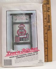 CROSS STITCH KIT CHRISTMAS WASHBOARD SANTA BEAR IS COMING TO TOWN SEALED