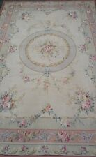 Magnificent Jeanine Handmade Cross-Stitched Wool Needle Point rug 6x9