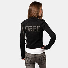 FREE FOR HUMANITY studded sweatshirt jacket giubbotto felpa borchie donna M (S)