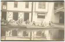 Canoe Club & Boat House ~ Location Unknown (Probably New York) RPPC c.1912