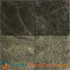 "6""X6"" RAIN FOREST GREEN TUMBLED HONED - MARBLE TILE  for floring"