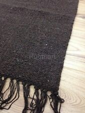 Large Handloomed 100% Natural Cotton ECO Rug Durrie Brown 180x245cm 6x8 40% OFF