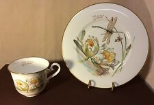 Heinrich Villeroy & Boch Country Diary Victorian Lady cup/plate -  July