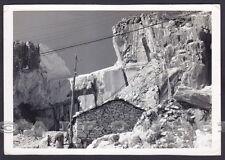 LUCCA FORTE DEI MARMI 35 CAVE MARMO - APUANE Cartolina FOTOGRAFICA viagg. 1964