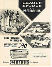 PUBLICITE ADVERTISING  1963   CIBIE   éclairage automobile