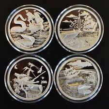 4 oz. *PROOF*.999 Silver Rounds Coins*Silverbug Island,Kraken,Mermaid,Whirlpool