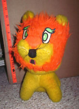 LION vintage stuffed animal 1960s plush carnival doll weird antique toy OG