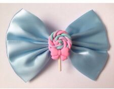 Bleu pastel lollipop hair bow kawaii fairy kei sweet lolita cute