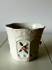 Shabby Cottage Chic Capodimonte Roses Planter Pot Ceramic Floral Flower