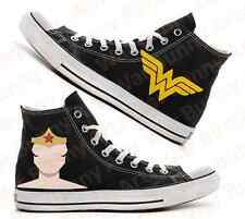 Custom hand painted Wonder Woman Converse All Stars canvas sneakers ~ New ~