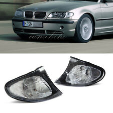 Pair For 02-05 BMW E46 3-SERIES 4DR  Sedan Corner Lights - Crystal Clear Lens