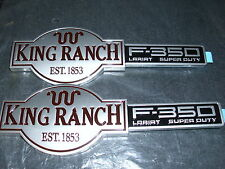 2001 2002 2003 2004 FORD F-350 F350 KING RANCH FACTORY FRONT FENDER EMBLEMS PAIR