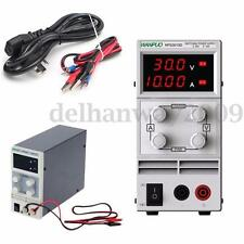 30V 10A 110V DC Power Supply Precision Variable Digital Adjustable w/Clip Cable