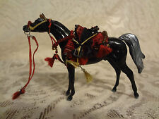 Stunning Peter Stone CHIPS Arabian Native Costume Horse Black Grey Maroon & Gilt