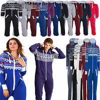 New Unisex Womens Mens adult  hooded zipped Onesie All In One Jumpsuit playsuit