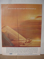 1962 Ford Car Automobile Only Sound from Radio Almost Vintage Print Ad 10008