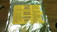 1 PACK Genuine Military CEE-BEE R-681 Aircraft Wipes 25 Wipes / 3.5 LBS