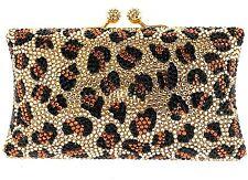 Designer Crystallized Evening Handbag Minaudiere Clutch with Swarovski Crystals