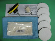"GLASS POLISHING KIT~100g CERIUM OXIDE~3"" PAD~SCRATCH REMOVER~WINDSCREEN ~GLASS"