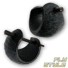 Legno Creolen nero legno Orecchini Orecchini orecchino Creoli natura Gioielli PENNA