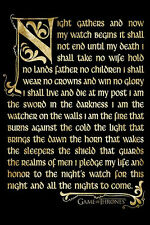 Game of thrones Night watch quote Poster! Military Order Seven Kingdoms New!