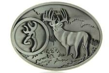 Buck Hunting Deer Hunter Antique Silver Color Western Belt Buckle