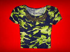 SPORTSCHECK SHIRT CROP TOP BATIK HIPPIE SURFER BOHO only S 36 38 NEUW.!!! TOP !!