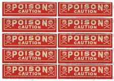 FRENCH FURNITURE DECAL SHABBY CHIC IMAGE TRANSFER VINTAGE SKULL POISON LABEL
