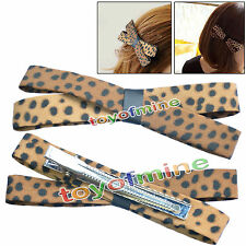 Coreano Fashion Accessory monili Leopard Bow Accessori per capelli Hairpin