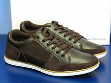 NEW Calvin Klein Scotty Suede Smooth Dark Brown Casual Shoes Men's Size 9 M US