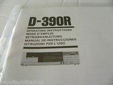 Sansui D-390R Owner's Manual  Operating Instructions Istruzioni New