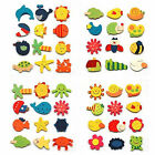 12pcs Wooden Cartoon Baby Kid Educational Toy Kitchen Fridge Magnet W87