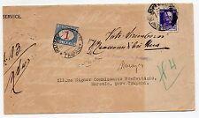 1929 REGNO 2 VALORI SU LETTERA DIRETTA A TRAPANI FIRMA RAY D/445