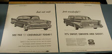 1957 CHEVROLET POSTERS from ORIGINAL 1956 OREGONIAN ADVERTISEMENT AD