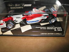 MINICHAMPS 1.43 F1 PANASONIC TOYOTA RACING TF102 2002 SHOWCAR  MIKA SALO AWESOME