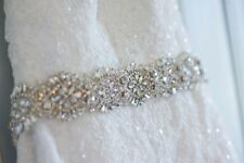 Bridal Wedding Dress Gown Beaded Jeweled Rhinestone Belt Sash