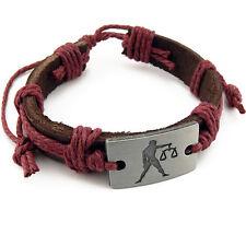 Bracelet cuir signe du zodiaque Balance - Bracelet leather zodiac Balance