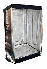 New 1.2m x 1.2m x 2m 600D Silver Mylar Grow Tent Box Hydroponics Dark Room