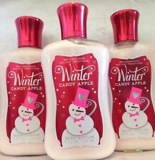 3 Bath & Body Works Winter Candy Apple Body Lotion Holiday Traditions