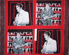"Elvis 68 Special Black & Red FOUR Pillowcase Blocks 34"" x 44"" Fabric Panel `"