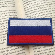 NEW Russia Country Flag Russian FLAG EMBROIDERED HOOK PATCH RU BADGE
