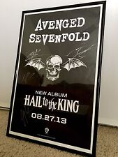 Avenged Sevenfold Signed Hail To The King Poster