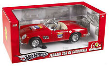 FERRARI 250GT CALIFORNIA 60th ANVERSARY 1947 - 2007 RED 1/18 BY HOT WHEELS L2948
