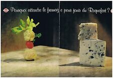 PUBLICITE ADVERTISING 094 1999 ROQUEFORT fromage (2 pages)