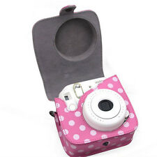 Classic PU Leather Polka Dot Camera Case Bag For FUJIFILM Instax Mini8 Mini8s